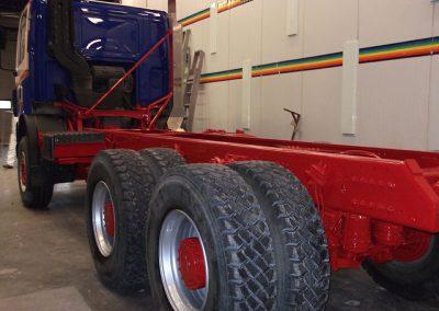 Herspuiten banden vrachtwagen